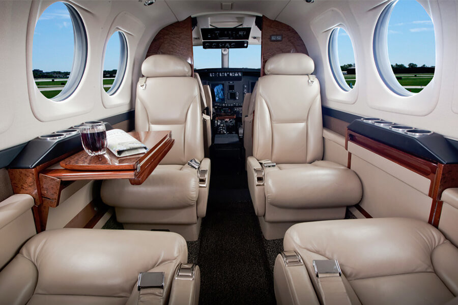 Beechcraft King Air C90GTx inside