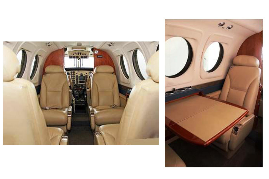 Beechcraft KingAir C90GT inside