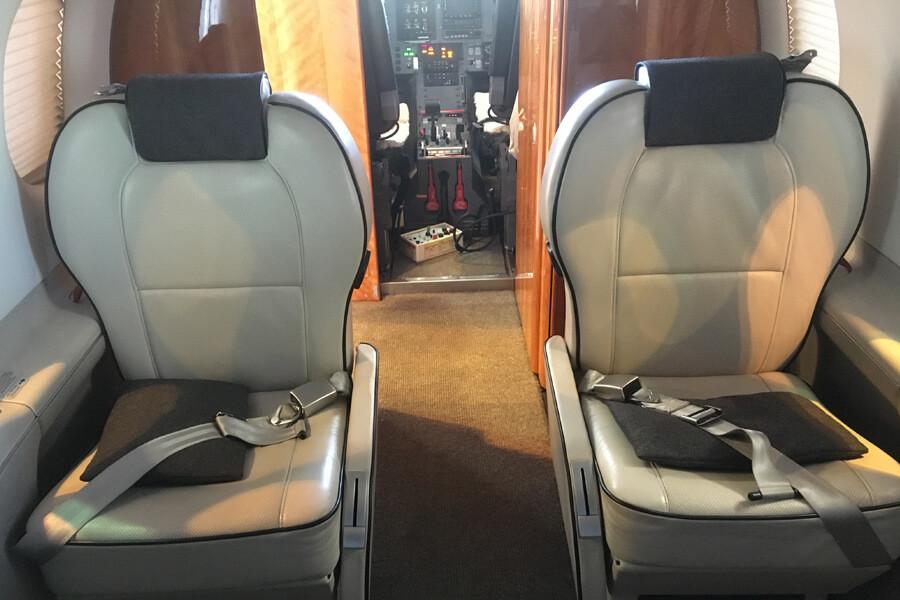 Pilatus PC12-47 inside
