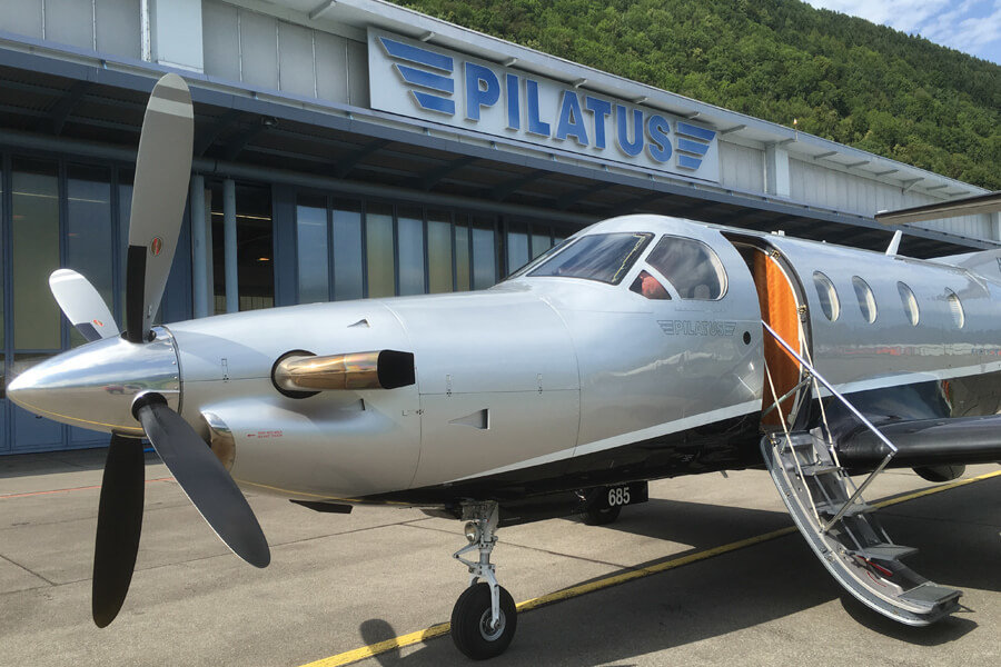 Pilatus PC12-47 outside